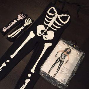 Suzy Skeleton Leg Avenue Costume Size Small